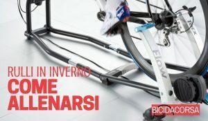 allenamento sui rulli bici da corsa