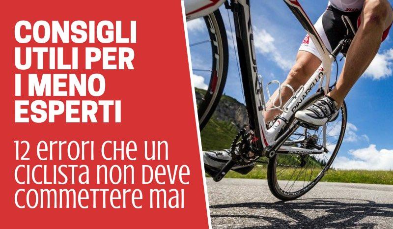 gli errori del ciclista